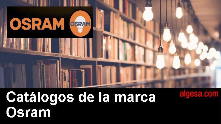 Catalogos de bombillas de la marca Osram