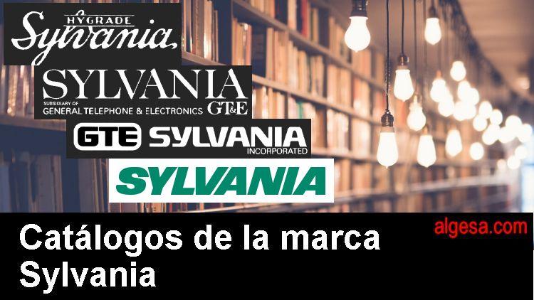Catalogos de la marca Sylvania. Fabricante mundial de lamparas